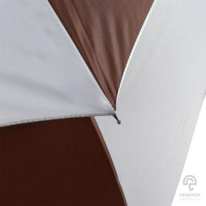 ร่มกอล์ฟ สีน้ำตาลเข้ม-ขาว 30 นิ้ว 2 ชั้น