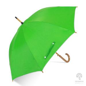 ร่มตอนเดียว สีเขียวอ่อน 24 นิ้ว(โครงไม้)