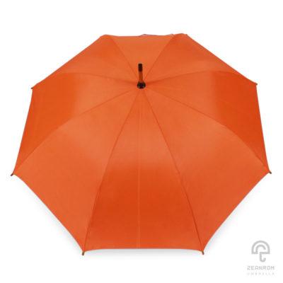 ร่มตอนเดียว สีส้ม 24 นิ้ว(โครงไม้)