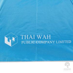 ร่มพรีเมี่ยม แบบพับ 2 ตอน สีแดง โลโก้ Thai Wah(Public Company Limited)