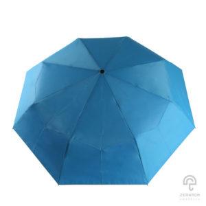 ร่มพับ 3 ตอน สีฟ้า เปิด-ปิดออโต้ 22 นิ้ว