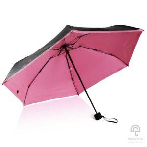 ร่ม Mini pocket สีชมพูอ่อน 21 นิ้ว