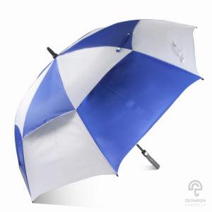 ร่มกอล์ฟ สีน้ำเงิน-ขาว 30 นิ้ว 2 ชั้น