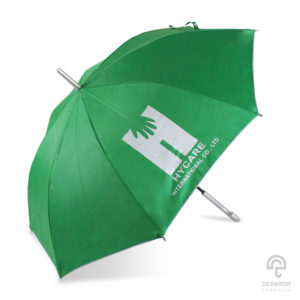 ร่มตอนเดียว สีเขียว 22 นิ้ว โลโก้ Hycare International.co.,LTD