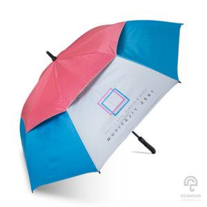 ร่มกอล์ฟ 30 นิ้ว 2 ชั้น สีฟ้า-ชมพู โลโก้ MUTITAJIT 2561