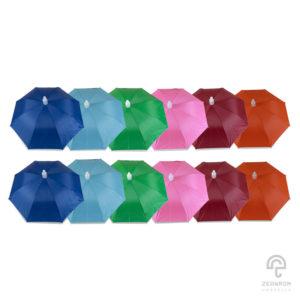 ร่มปลอกถ้วย คละ 6 สี 24 นิ้ว(จำนวน 1 โหล)