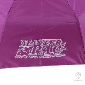 ร่มพับ 3 ตอน สีม่วง โลโก้ Masterpac-Asia