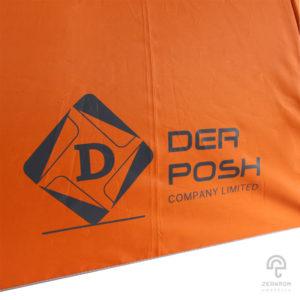 ร่มตอนเดียว สีส้ม 22 นิ้ว โลโก้ Der Posh company,LTD