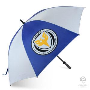 ร่มกอล์ฟ สีน้ำเงิน-ขาว 30 นิ้ว โลโก้ FCB
