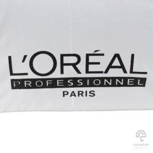 ร่มตอนเดียว(ด้ามไม้) สีขาว 24 นิ้ว โลโก้ L'Oreal
