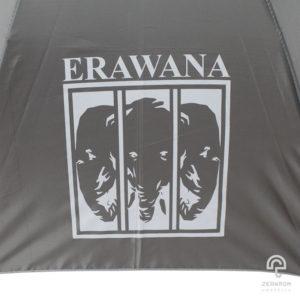 ร่มพรีเมี่ยม แบบปลอกถ้วย สีเทา 24 นิ้ว โลโก้ ERAWANA
