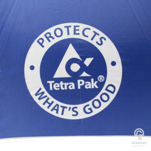 ร่มพรีเมี่ยม ตอนเดียว 30 นิ้ว โลโก้ Tetra Pak(บรรจุภัณฑ์อาหารและเครื่องดื่ม)