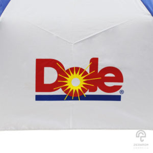 ร่มพรีเมี่ยม สีน้ำเงิน-ขาว แบบพับ 3 ตอน 22 นิ้ว โลโก้ Dole