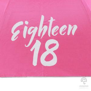 ร่มพรีเมี่ยม แบบพับ 2 ตอน 22 นิ้ว โลโก้ Eightteen 18
