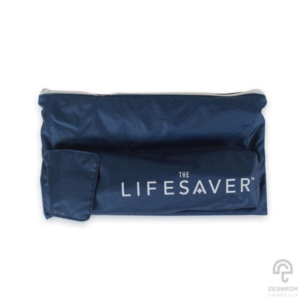 ร่มพรีเมี่ยม สีกรมท่า แบบพับ 3 ตอน โลโก้ The life saver(SCG)