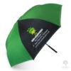 ร่มพรีเมี่ยม แบบกลับด้าน สีเขียวขี้ม้า-ดำ 24 นิ้ว โลโก้ Sun Chlorella Thailand