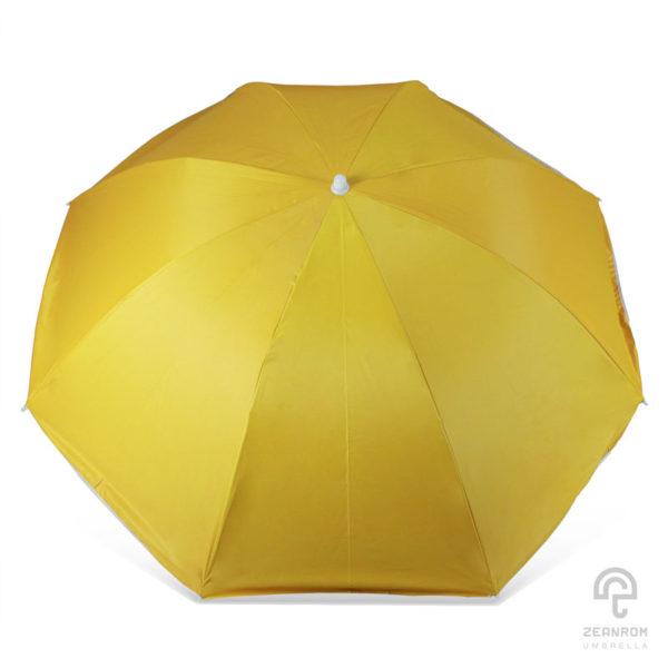 ร่มสนาม สีเหลือง 34 นิ้ว