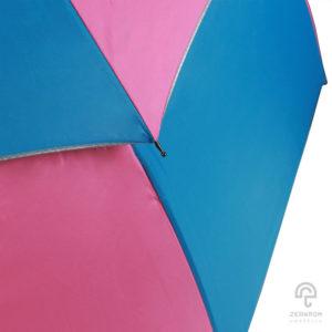 ร่มกอล์ฟ สีชมพู-ฟ้า 30 นิ้ว 2 ชั้น