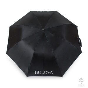 ร่มพรีเมี่ยม แบบพับ 2 ตอน 22 นิ้ว โลโก้แบรนด์นาฬิกา BULOVA