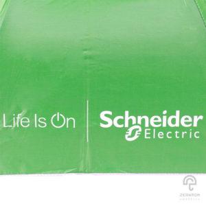 ร่มพรีเมี่ยม แบบพับ 2 ตอน สีเขียวอ่อน โลโก้ Schneider Electric
