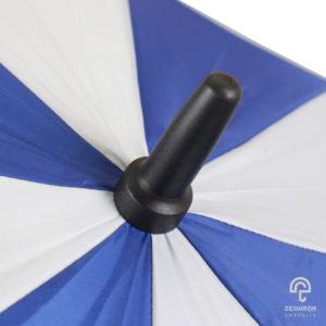 ร่มพรีเมี่ยม แบบตอนเดียว สีน้ำเงิน-ขาว 30 นิ้ว โลโก้ VOLTRONIC