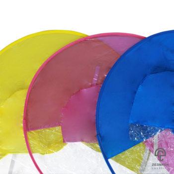 ร่มหมวกปีกกว้าง 3 สีสวยสดใส (สีเหลือง,สีฟ้า,สีชมพู)