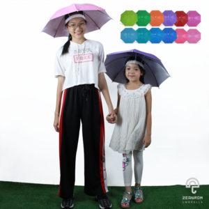 ร่มหมวก คละ 12 สีสวยสดใส