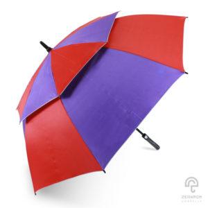 ร่มกอล์ฟ สีม่วง-แดง 30 นิ้ว 2 ชั้น