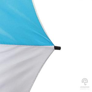 ร่มพรีเมี่ยม แบบตอนเดียว สีฟ้า-ขาว 30 นิ้ว โลโก้ กองพลทหารม้าที่ ๙