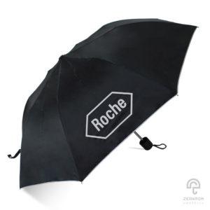 ร่มพรีเมี่ยม สีดำ แบบพับ 2 ตอน โลโก้ บริษัทยาและเวชภัณฑ์ Roche