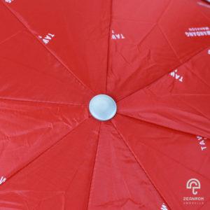 ร่มพรีเมี่ยม แบบพับ 2 ตอน 22 นิ้ว สีดำและสีแดง โลโก้ ตะวันแดง มหาชน(สืบสานตำนานเพลงเพื่อชีวิต)