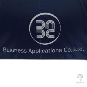 ร่มพรีเมี่ยม ตอนเดียว สีม่วง 24 นิ้ว โลโก้ Business Applications Co.,Ltd.