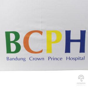 ร่มพรีเมี่ยมกอล์ฟ 30 นิ้ว 2 ชั้น โลโก้ Bandung Crown Prince Hospital