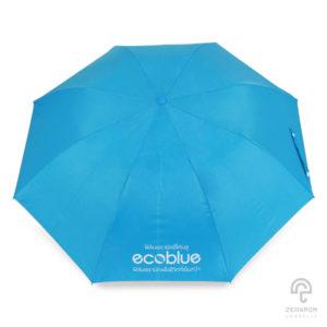 ร่มพับพรีเมี่ยม 2 ตอน 21 นิ้ว สกรีนโลโก้ Ecoblue