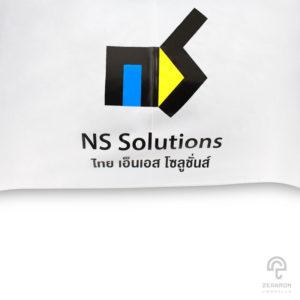 ร่มพรีเมี่ยมกอล์ฟ 30 นิ้ว 2 ชั้น โลโก้ NS Solutions