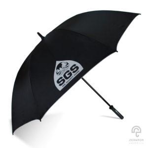 ร่มพรีเมี่ยม แบบตอนเดียว สีดำ 28 นิ้ว โลโก้ SGS SECURITY GUARD