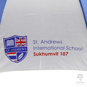ร่มพรีเมี่ยม ตอนเดียว 30 นิ้ว โลโก้ ST. ANDREWS INTERNATIOANL SCHOOL