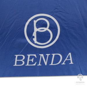 ร่มพรีเมี่ยม สีน้ำเงิน แบบพับ 2 ตอน 22 นิ้ว โลโก้ BENDA