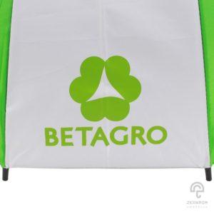 ร่มตอนเดียว สีเขียว-ขาว 24 นิ้ว(16 ก้าน) โลโก้ BETAGRO