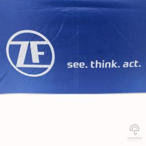 ร่มพรีเมี่ยมกอล์ฟ 30 นิ้ว 2 ชั้น โลโก้ ZE see.think.act