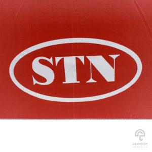 ร่มพรีเมี่ยม ตอนเดียว สีแดง 30 นิ้ว โลโก้ STN