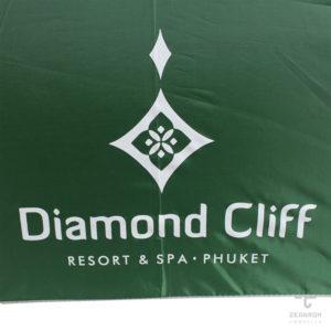 ร่มพรีเมี่ยม ตอนเดียว 30 นิ้ว โลโก้ Diamond Cliff