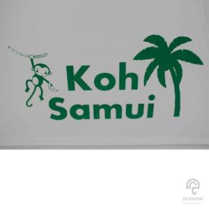 ร่มพรีเมี่ยม ร่มใส 21 นิ้ว โลโก้ Koh Samui