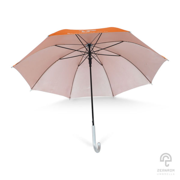 ร่มพรีเมี่ยม สีส้ม ขนาด 24 นิ้ว โลโก้ Teepopp