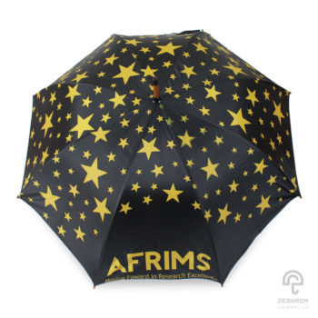 ๆร่มตอนเดียว 24 นิ้ว(โครงไม้) โลโก้ AFRIMS